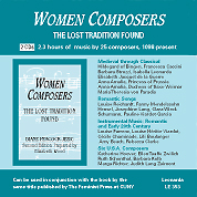 CD, Women Composers The Lost Tradition Found